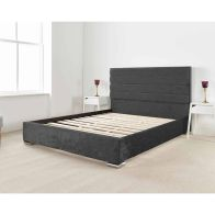 See more information about the Lanata Upholstered Pine Black 3ft Single Bed Frame