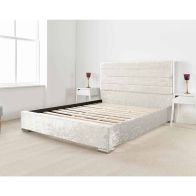 See more information about the Lanata Upholstered Pine Pearl 3ft Single Bed Frame