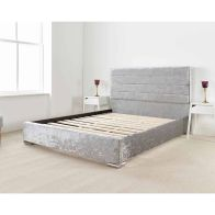 See more information about the Lanata Upholstered Pine Silver 3ft Single Bed Frame