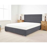 See more information about the Stocksmoor Upholstered Pine Grey 3ft Single Bed Frame