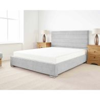 See more information about the Stocksmoor Upholstered Pine Silver 3ft Single Bed Frame