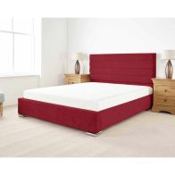 See more information about the Stocksmoor Upholstered Pine Red 3ft Single Bed Frame