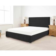 See more information about the Stocksmoor Upholstered Pine Black 3ft Single Bed Frame