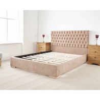 See more information about the Farnley Upholstered Pine Brown 3ft Single Bed Frame
