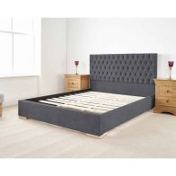 See more information about the Farnley Upholstered Pine Grey 3ft Single Bed Frame