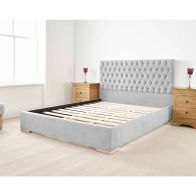 See more information about the Farnley Upholstered Pine Silver 3ft Single Bed Frame