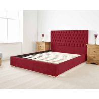 See more information about the Farnley Upholstered Pine Red 3ft Single Bed Frame