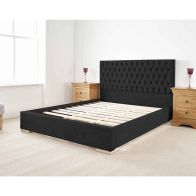See more information about the Farnley Upholstered Pine Black 3ft Single Bed Frame