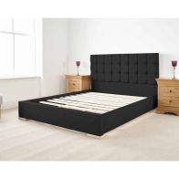 See more information about the Banks Upholstered Pine Black 3ft Single Bed Frame
