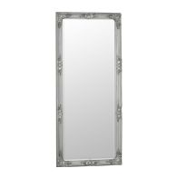 See more information about the Bevelled Glass Mirror with Wooden Frame (75 x 165cm) - Silver