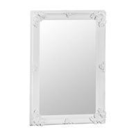 See more information about the Venetian Bevelled Mirror White & Glass 80 x 115cm