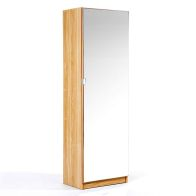See more information about the Mirrored Oak Finish Shoe Cabinet 150cm