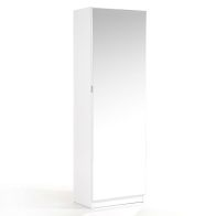 See more information about the Avery Shoe Storage Mirrored 1 Door 6 Shelf White