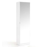 See more information about the Budget Shoe Storage Mirrored 1 Door 6 Shelf White