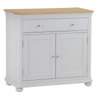See more information about the Mulbarton Sideboard Grey & Oak 2 Door 1 Drawer