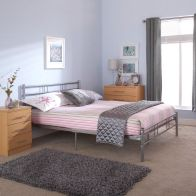 See more information about the Morgan Small Double Bed Grey Metal