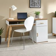 See more information about the Nordica Desk White 1 Door 1 Shelf 1 Drawer