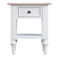 See more information about the Painted Oak 1 Drawer Lamp Table