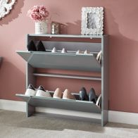 See more information about the Narrow Shoe Cabinets High Gloss 2 Door Shoe Cabinet Grey