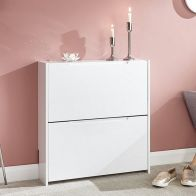 See more information about the Narrow Shoe Cabinets High Gloss 2 Door Shoe Cabinet White