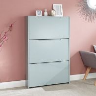 See more information about the Narrow Shoe Cabinets High Gloss 3 Door Shoe Cabinet Grey