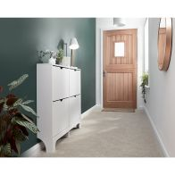 See more information about the Narrow Shoe Cabinets 4 Door Shoe Cabinet White