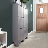See more information about the Narrow Shoe Cabinets 6 Door Shoe Cabinet Grey