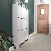 See more information about the Narrow Shoe Cabinets 6 Door Shoe Cabinet White
