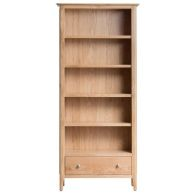 See more information about the Campton Oak Large 1 Drawer 5 Shelf Bookcase