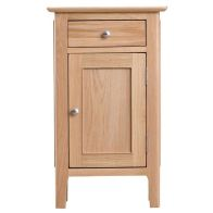 See more information about the Bayview Small Cabinet Oak 1 Door 1 Drawer