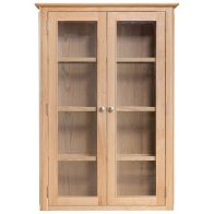 See more information about the Bayview Dresser Top Oak 2 Door 4 Shelf With Lights