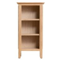 See more information about the Bayview Small Narrow Bookcase Oak 3 Shelf