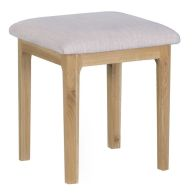 Bayview Light Oak Bedroom Dressing Table Stool