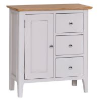 See more information about the Necton Large Cabinet Grey & Oak 1 Door 3 Drawer