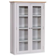 See more information about the Necton Dresser Top Grey & Oak 2 Door 4 Shelf