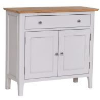 See more information about the Necton Sideboard Grey & Oak 2 Door 1 Drawer