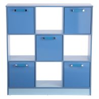 See more information about the Ottawa Cube Bookcase Blue 5 Door 4 Shelf