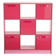 See more information about the Ottawa Cube Bookcase Pink 5 Door 4 Shelf