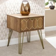 See more information about the Orleans 1 Drawer Lamp Table Mango