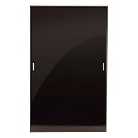 See more information about the Ottawa Sliding Wardrobe Black 2 Door With Mirror