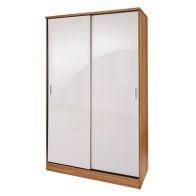 See more information about the Ottawa Sliding Wardrobe White & Oak Style 2 Door