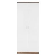 See more information about the Ottawa Wardrobe White 2 Door Oak Style