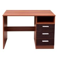 See more information about the Ottawa Desk Brown 1 Shelf 3 Drawer