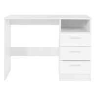 See more information about the Budget Study Desk White 1 Shelf 3 Drawer
