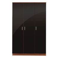 See more information about the Ottawa Wardrobe Black 3 Door Walnut Style