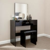 See more information about the Ottawa Black Dressing Table & Stool Set