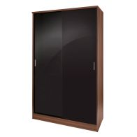 See more information about the Ottawa Sliding Wardrobe Black 2 Door Walnut Style