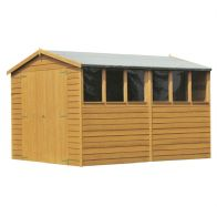 See more information about the Shire Overlap Apex Garden Shed & Windows 10' x 8'