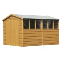 See more information about the Shire Overlap Apex Garden Shed & Windows 12' x 8'