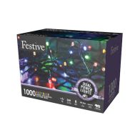 See more information about the 1000 LED Multicolour 99.9m Dual Power Christmas Tree Outdoor Lights